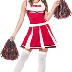 Smiffys-Womens-Cheerleader-Costume-with-Dress-and-Pom-Poms-0