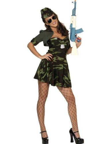 Smiffy's Women's Military Babe Camouflage Costume