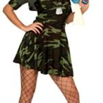 Smiffys-Womens-Military-Babe-Costume-Camouflage-Dress-Hat-and-Shrug-Multi-Large-0