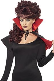 Smiffys-Womens-Mini-Vamp-Cape-and-with-High-Collar-0