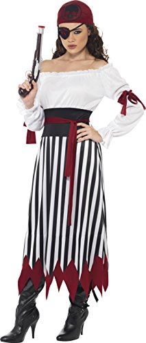 Smiffys-Womens-Pirate-Lady-Costume-Dress-with-Arm-Ties-Belt-and-Headpiece-0