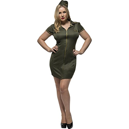 Smiffy's Women's Plus Size Fever Army Costume