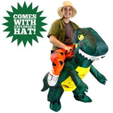 Spooktacular-Creations-Inflatable-Dinosaur-Riding-a-T-REX-Deluxe-Costume-Adult-Size-0