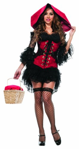 Starline Women's Mischievous Red 3 Piece Corset Costume Set