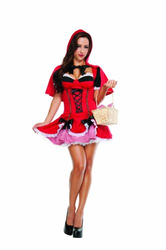 Starline Women's Sexy Little Red Costume Dress Set