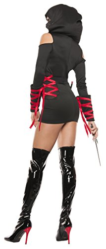 Starline-Womens-Sexy-Strapped-Up-Ninja-Costume-Set-0-0