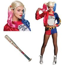 Suicide-Squad-Harley-Quinn-Adult-Costume-Bundle-Set-Small-0
