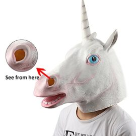 Supmaker-Deluxe-Novelty-Halloween-Costume-Party-Latex-Animal-Head-Mask-Unicorn-head-0-1