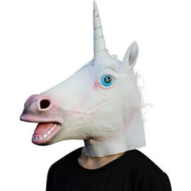 Supmaker-Deluxe-Novelty-Halloween-Costume-Party-Latex-Animal-Head-Mask-Unicorn-head-0
