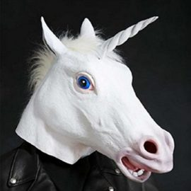 Supmaker-Deluxe-Novelty-Halloween-Costume-Party-Latex-Animal-Head-Mask-Unicorn-head-0-3