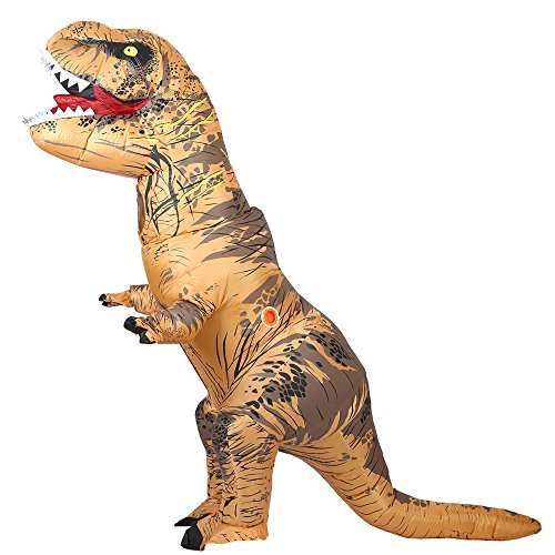 T-Rex Inflatable Costume Dinosaur Fancy Dress Fool Pets Costume for ADULT Party