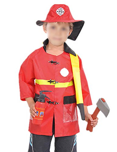 THEE Firefighter Fireman Unisex Costume Set Party Children Halloween Clothing