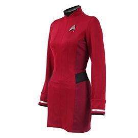 TISEA-Female-Captain-Officer-Duty-Dress-Cosplay-Costume-Red-Uniform-0-1
