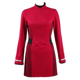 TISEA-Female-Captain-Officer-Duty-Dress-Cosplay-Costume-Red-Uniform-0