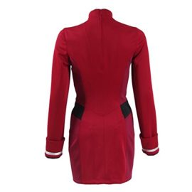 TISEA-Female-Captain-Officer-Duty-Dress-Cosplay-Costume-Red-Uniform-0-3