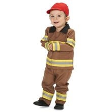 Tan-Firefighter-with-Cap-Infant-Costume-0
