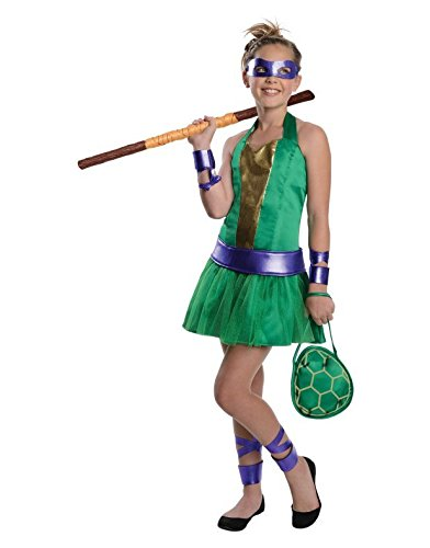 Teenage Mutant Ninja Turtles Sassy Tween Girl's Donatello Costume
