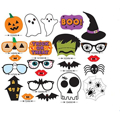 Tinksky-22pcs-Holloween-Prop-Photo-Booth-Props-DIY-Kit-for-Party-Supplies-Featuring-Boo-Pumpkin-Ghost-Halloween-Decorations-Birthday-Party-Photo-Booth-Props-0-0