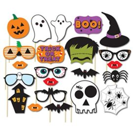 Tinksky-22pcs-Holloween-Prop-Photo-Booth-Props-DIY-Kit-for-Party-Supplies-Featuring-Boo-Pumpkin-Ghost-Halloween-Decorations-Birthday-Party-Photo-Booth-Props-0