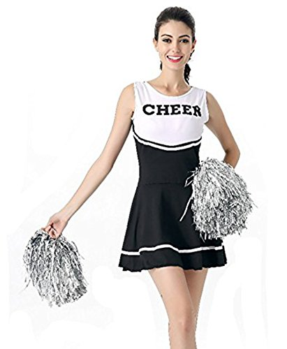 Tollbuy-Womens-Cheerleader-Costume-Uniform-Dress-Cosplay-0  sc 1 st  Halloween Costumes Best & Tollbuy Womenu0027s Cheerleader Costume Uniform Dress Cosplay ...