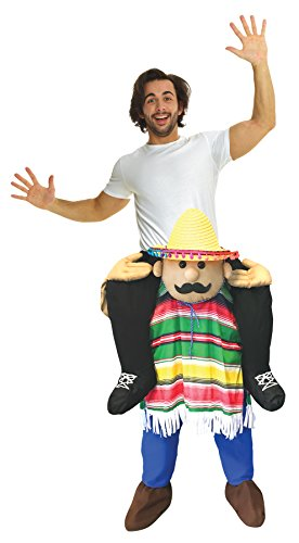 UHC Cinco De Mayo Piggyback Outfit Funny Theme Party Halloween Fancy Costume