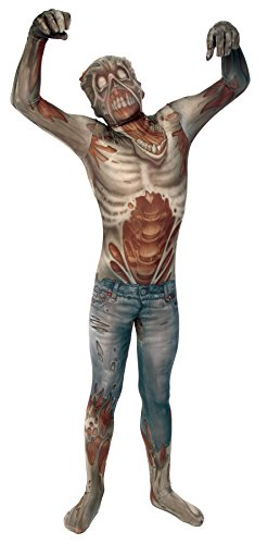 UHC Men's Zombie Morphsuit Horror Theme Outfit Halloween Party Costume