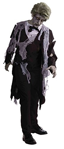 UHC Men's Zombie Tuxedo Butler Outfit Horror Theme Party Halloween Costume