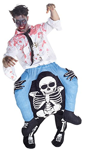 UHC Skeleton Piggyback Outfit Zombie Fancy Dress Halloween Costume
