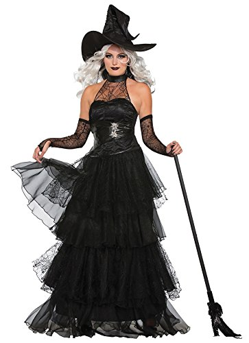 UHC Women's Ember Witch Wicked Evil Sorceress Fancy Dress Halloween Costume