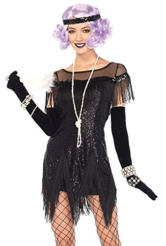 uhc womens flapper foxtrot flirt sequin dress theme home womens halloween costumes