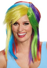 UHC-Womens-My-Little-Pony-Rainbow-Dash-Wig-Halloween-Costume-Accessory-0
