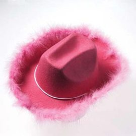 US-Toy-H462-Adult-Boa-Cowgirl-Hat-Pink-0