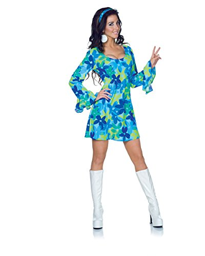 Underwraps Costumes Women's Retro Hippie Costume – Wild Flower