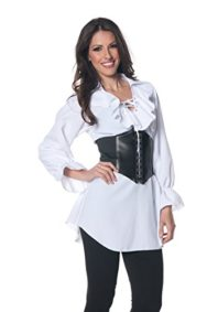 Underwraps-Womens-Plus-Size-Pirate-Laced-Front-Blouse-0