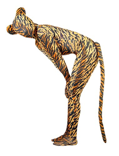 VSVO Unisex Tiger Spandex Costume with Ears and Tail for Adults and Children