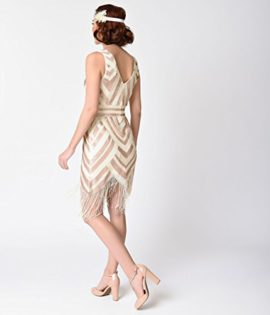 Vintage-1920s-Style-Ivory-Gold-Sequin-Deco-Fringe-Flapper-Dress-0-0