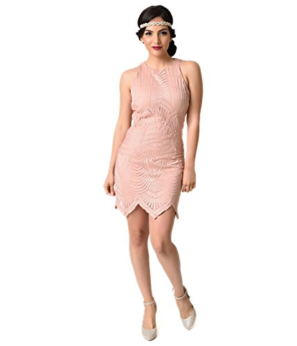 Vintage-Style-Blush-Pink-Embroidered-Mesh-Sleeveless-Flapper-Dress-0