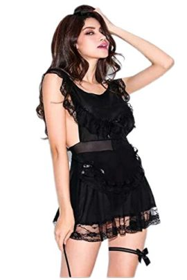 Vivilover-Women-French-Maid-Lingerie-Sexy-Maid-Costume-Chemises-Cosplay-Sleepwear-0