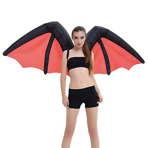Wecloth Inflatable Suit Wings Cospaly Fairy Costume Butterfly Rainbow Wings Adult Blowup Fancy Dress