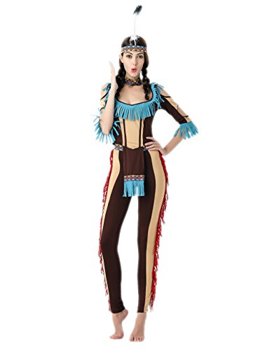 wild west indian costume halloween party costume for women