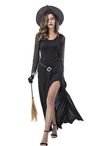 Witch Halloween Costumes for Women – Adult Sexy Black Wicked Witch Costume