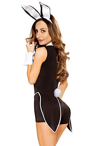halloween adult costume sexy tuxedo bunny bodysuit jumpsuit romper cosplay party costume with twim jacket tails