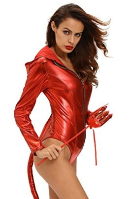 Women-Adult-Sexy-Bodysuit-Costumes-Metallic-Devilish-Hottie-Long-Tail-Playsuit-Hooded-Halloween-Costume-Catsuit-0-0