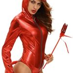 Women-Adult-Sexy-Bodysuit-Costumes-Metallic-Devilish-Hottie-Long-Tail-Playsuit-Hooded-Halloween-Costume-Catsuit-0-4