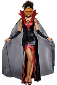 Women-Halloween-Costume-Witchy-Queen-2-PCS-Vampire-Cosplay-Party-Costume-0
