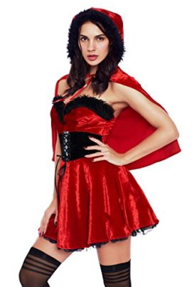 Women-Little-Red-Damsel-Xmas-Costume-Halloween-Party-Cosplay-0