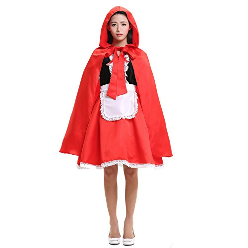 Women Little Red Riding Hood COSTUME Fancy Dress Hens Party HALLOWEEN Outfit