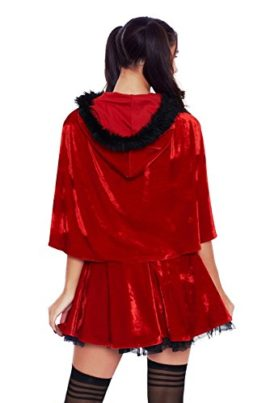 Womens-Adult-Little-Red-Damsel-Crop-Top-Red-Plush-Shawl-Xmas-Cherismas-Costume-Midi-Skater-Dress-with-Red-Hat-0-0