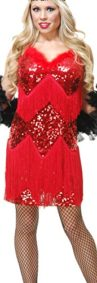 Womens-Medium-8-10-Red-Roaring-20s-Fringed-Sequin-Flapper-Costume-Dress-0