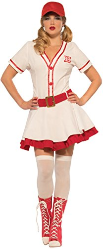 Women's No Crying Baseball Sweetie Big Hitter Costume